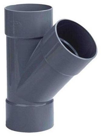 PVC T-stuk 45gr 3xMof, 125